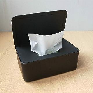 Lst2020 Caja de pañuelos secos y húmedos, sello de mesa, caja de pañuelos húmedos a prueba de polvo, contenedor para servi...