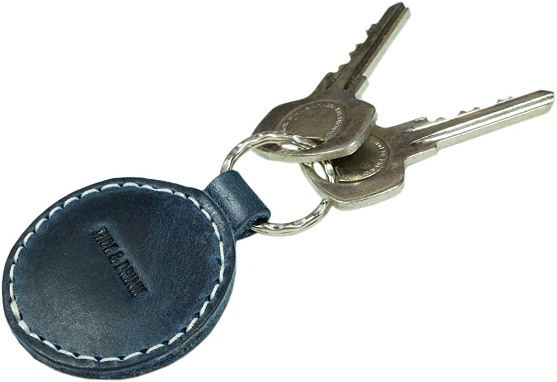 Hide & Drink, Leather Circular Keychain, Key Ring Holder, Organizer, Gifts Ideas, Accessories, Handmade