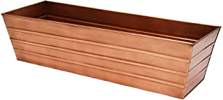 Achla Designs C-21C Plated Flower Box, Window Flowerbox Planter, Large, Copper