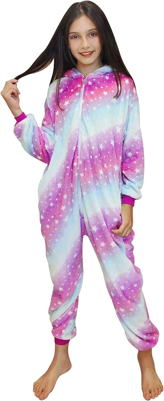 DRESHOW Unicornio Pijamas de un Pieza para Niños Niñas ...