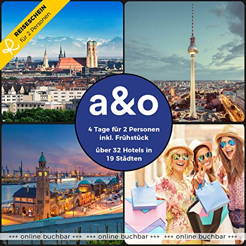 Reiseschein Hotelgutschein 4 Tage für 2 in 1 von 32 a&o Hotels in 19 Städten Gutschein Kurzreise