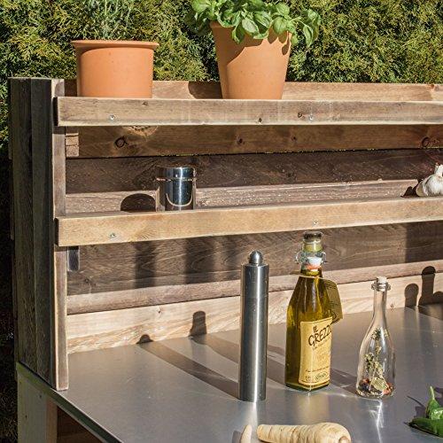 610qs6SU5oL - Palettenmöbel Grill-Tisch Captain Cook Basic, Neuholz gebeizt in klassischer Paletten Optik, jedes Teil ist einzigartig und Wird in Deutschland in Handarbeit gefertigt