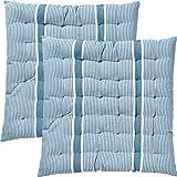 REDBEST Stuhlkissen, Sitzkissen, Sitzauflage 2er-Pack blau Größe 40x40x3 cm - strapazierstark,...