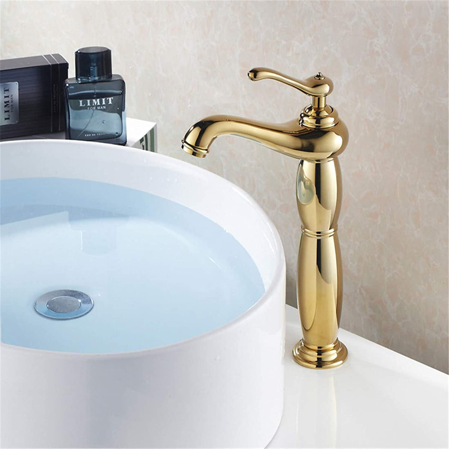 Retro Plated Hot and Cold Faucet Retrogold Bathroom Faucet Tall Faucet Brass Chrome Bathroom Taps