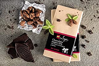 Chocolate negro 72% con cacao ecológico y stevia. Sin azúcar añadido. Apto para diabéticos. Sin gluten. 100 Gr.