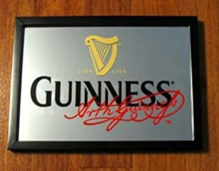 Irish Beers Guinness Stout Signature 18 X 13 Framed Mirror