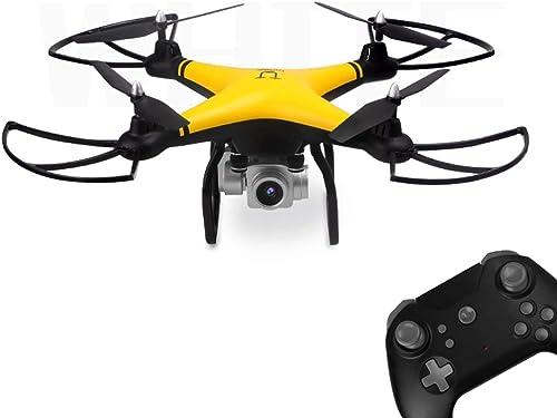 WOSOSYEYO 69608 2,4 g rc Selfie smart Drone FPV Quadcopter Flugzeug mit 720 p hd Kamera echtzeit h  halten Headless Modus 3D flip (gelb)
