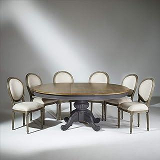 Robin des bois - Table Extensible 8 à 10 Couverts, Patine Gris Anthracite, AMBOISE