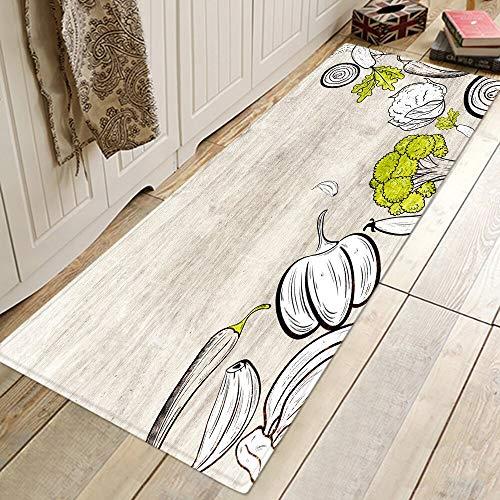 OPLJ Alfombras de Cocina Modernas Alfombra de Entrada Lavable Alfombra de Puerta Alfombra de baño de Dormitorio Alfombrillas Antideslizantes Alfombra de decoración Alfombra A5 60x180cm