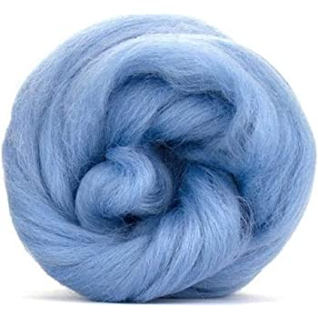 GoatsMagosh 4oz Corriedale Wool Roving for Felting and Spinning Lime