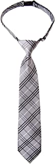 Retreez Tartan Plaid Styles Woven Microfiber Pre-tied Boy's Tie - Various Colors