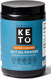 Perfect Keto MCT Oil C8 Powder, Coconut Medium Chain Triglycerides for Pure Clean Energy,..