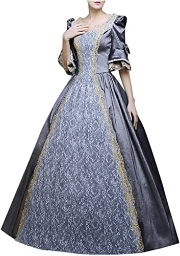 VEKDONE Women Plus Size Rococo Ball Gown Gothic Victorian Dress Costume Gothic Period Reenactment Theater Costumes
