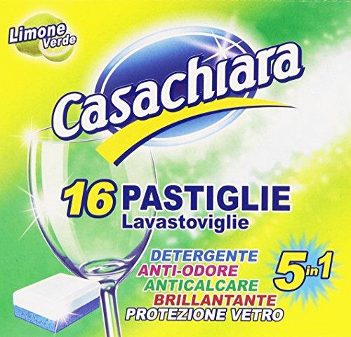 Casachiara - Pastiglie per lavastoviglie 5 in 1, Confezione da 16