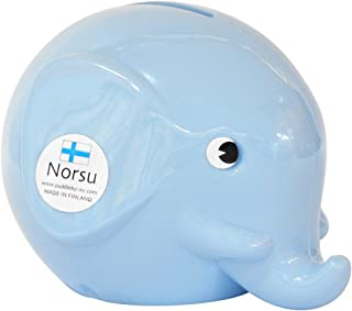 Norsu エレファントバンク 貯金箱 (S) ライトブルー MK20313