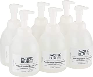 Pacific Blue Select E-2 Rated Countertop Antimicrobial Foam Soap by GP PRO (Georgia-Pacific), Dye and Fragrance Free, 44810, 532 mL Per Bottle, 6 Bottles Per Case