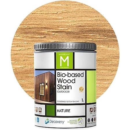Barniz Madera Exterior   Bio-based Wood Stain   1 L   Barniz ecológico para todo tipo de madera   Pintura madera exterior   color Natural  Flexible y ...