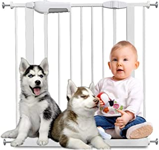 Punch-Free Baby Gates for Stairs Fence Pet Fence Isolation Door Wall Protector Dual Lock Self Closing