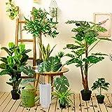 [30 Stück] Tropische Blätter, Htianc Palmenblätter Dschungel Strand Thema Party Hochzeit Dekorationen Tischdekoration - 2