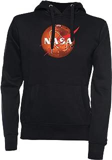 Vendax NASA Marte Unisex Felpa con Cappuccio Nero