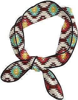 American Native Pattern Headbands Hair Band For Women/Girls/Lady, Beauty Skinny Neck Scarf Yoga Travel Spa Sweat Band Headbands Adjustable Make Up Wrap Neck Decor