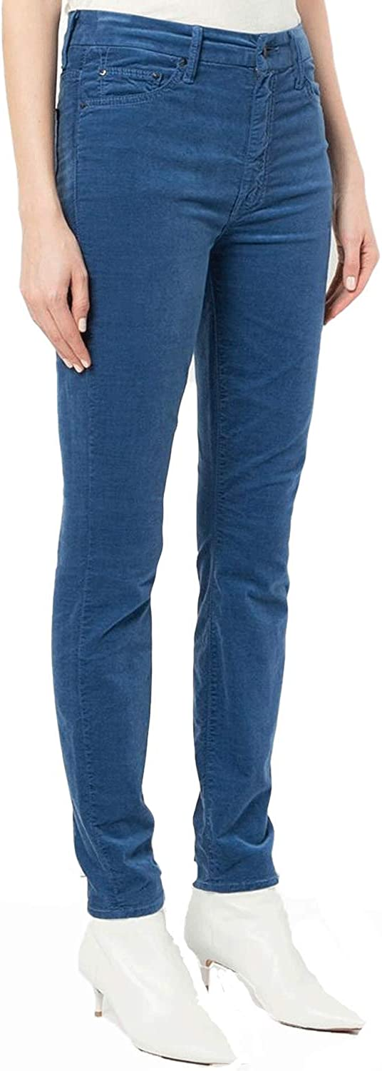 Mother Women's High Waisted Looker Velvet Jeans True bluee
