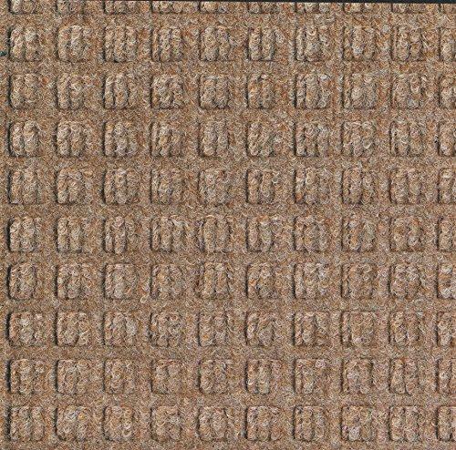M+A Matting 210 Waterhog Classic Tile Polypropylene Fiber Entrance Indoor/Outdoor Floor Tile, Square Pattern, SBR Rubber Backing, 18' Length x 18' Width, 1/4' Thick, Medium Brown (Case of