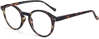 Ronde frame leesglazen voor mannen vrouwen computer brillen hyperopië anti blauw licht leesbril brillen 9.23 (Eye Prescrip...