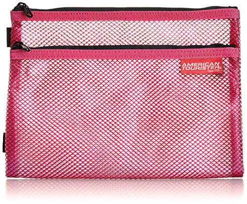 [スターツ] フタツオリポーチビニールS 16 cm SAT41 ピンク