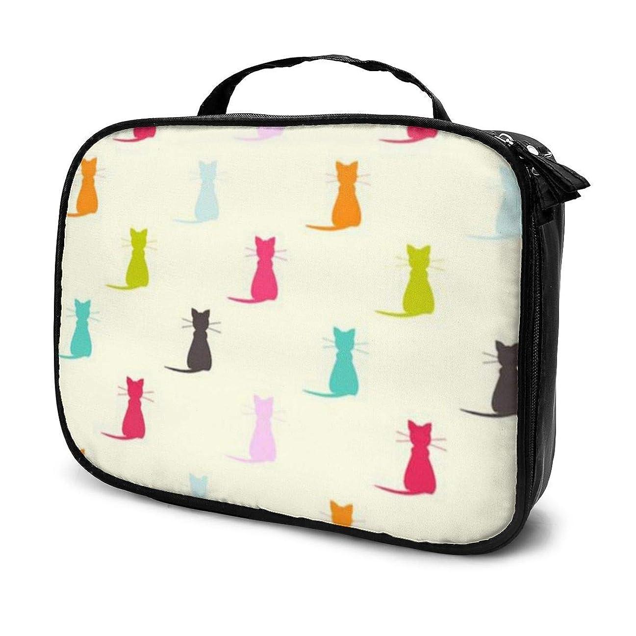 好ましいを通してオリエンテーションDaituカラフルな猫 化粧品袋の女性旅行バッグ収納大容量防水アクセサリー旅行