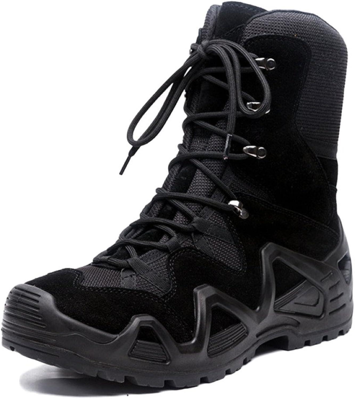 Nihiug Bottes De Randonnée pour Hommes Imperméable à l'eau Léger High Rise Trekking Chaussures Ultralumière Comhommedo Bottes De Combat Bottes Tactiques