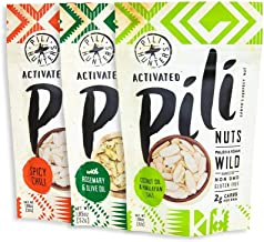 PILI HUNTERS The Original Wild Sprouted Pili Nuts Keto Variety Pack, Flavors Include Original, Rosemary, and Spicy Chili, Low Carb, Vegan, Ketogenic Fat Superfood, (1.85 oz Bag, pack of 3)