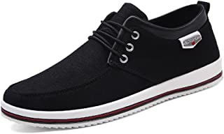 333da371 CUSTOME Hombres Lona Zapatos Plano Suave Ligero Casual para Caminar Zapatos  Sneaker Alpargatas Comodidad