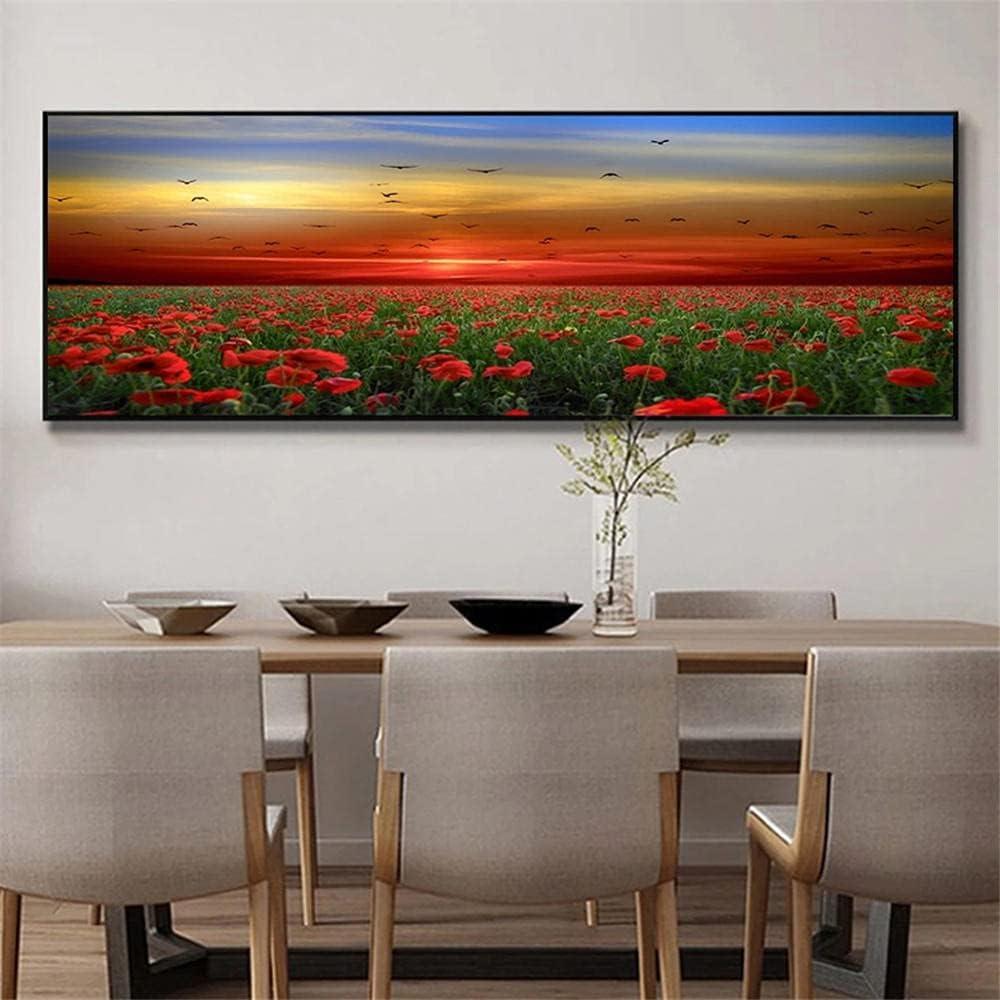 Ranking TOP2 DIY 5D Diamond Painting by Number Red Flowers Rare Diamo Kits Sunset
