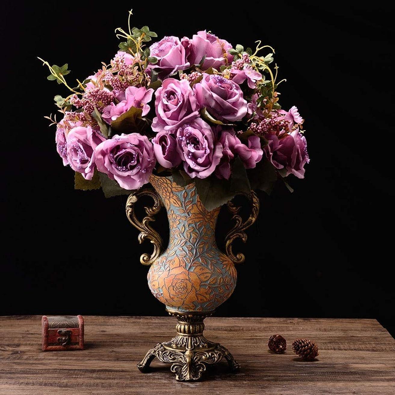 スリーブトランクまた明日ね花瓶 ルーム表目玉ベッドルームオフィスホテルホームデコレーション人工フラワーアレンジメントブーケ樹脂