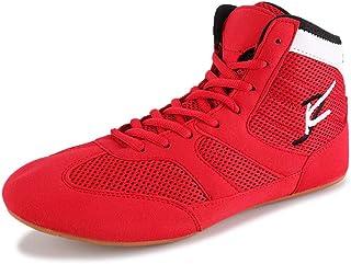 FJJLOVE Wrestling Shoes, Breathable Lightweight Boxing/Wrestling Boots Rubber Sole Sport Sneakers for Men Women Children K...