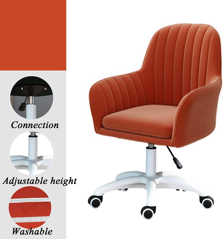Dytxe Chaise De Bureau Moderne Pivotante en Tissu Rembourré pour Maison, Bureau, Hauteur Réglable, Supporte Jusqu'à 150 Kg,Vert Red