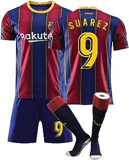 XH Camiseta Luis Suárez # 10 Conjunto de Camiseta de fútbol para Hombre Todos los tamaños niños y Adultos (Color : Blue+Re...