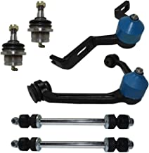 Detroit Axle - Complete 6-Piece Front Suspension Kit For Torsion Bar Suspension Only - 10-Year Warranty - 2-Piece Upper Control Arms & Ball Joint, 2 Lower Ball Joints, 2 Sway Bar Links……