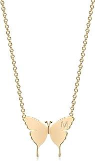 گردنبند اولیه Mevecco Gold Dainty گردنبند آویز پروانه ای طلا 18K گردنبند گردنبند ظریف هر روز برای زنان جواهرات مینیمال شخصی