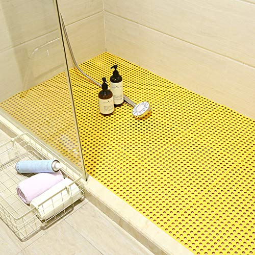 Best Bargain Bath mats antiscivolo Absorbent Floor Mat Stitching Shower Room Bathing Water Hollow Pl...
