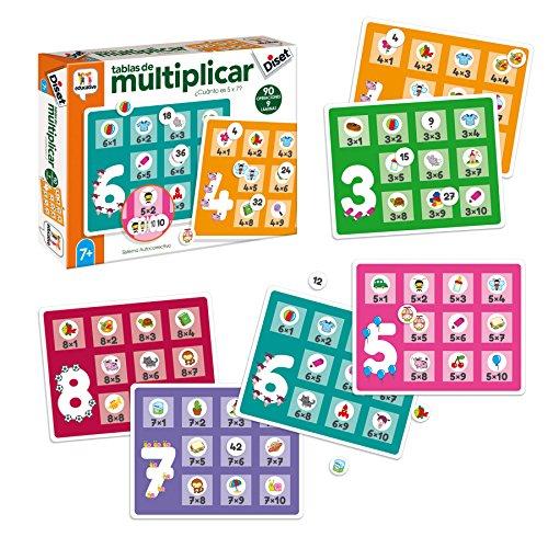 Diset- Tablas de Multiplicar Juego de Mesa, Multicolor (68957)