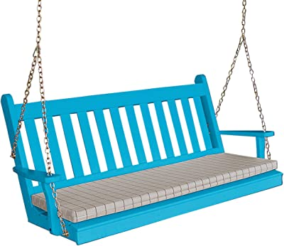 Amazon.com : Solid Wood Hand Painted Carved Swing Loveseat
