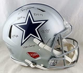 Tony Dorsett Signed Helmet - F S Speed Authentic w 5 Insc Beckett Auth - Beckett Authentication - Autographed NFL Helmets
