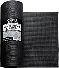 Professional Tool Box Liner and Drawer Liner - Black Non-Slip Shelf Liner Is Perfect for Protecting Your Tools - These Thick Cabinet Liners Are Easily Adjustable to Fit Any Space (18'' x 24 ft)
