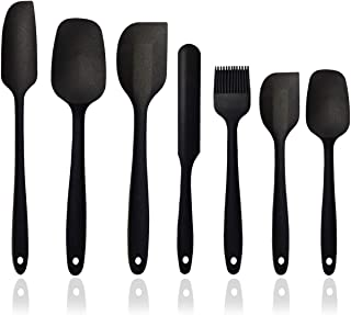 Silicone Spatula Set - 7-Piece Silicone Spatula Heat Resistant & Non-Stick, for Cooking, Baking and Mixing - BPA Free and ...
