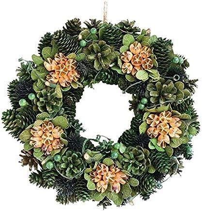 彩か SAIKA リース M 緑 グリーン インテリア用 玄関飾り シック CXO-217Mg Wreath-Beans Flower M Green
