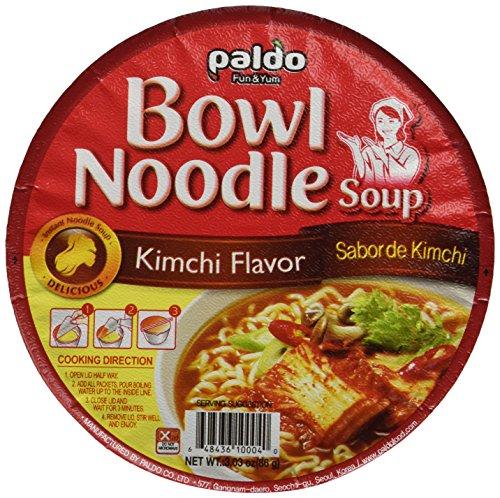 Paldo Kimchi Noodle Soup, 3.03-Ounce Cup (Pack of 12)