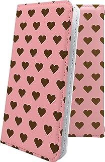 ケース isai V30+ LGV35 互換 手帳型 ハート love kiss キス 唇 ハート柄 イサイ プラス 女の子 女子 女性 レディース isaiv30 plus かわいい 可愛い kawaii lively