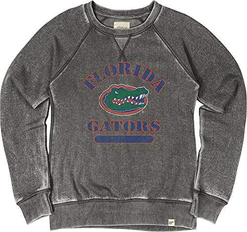 Elite Fan Shop Florida Gators Womens Burnout Crewneck Sweatshirt Vintage - X-Large - Charcoal